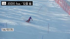 第98回全日本スキー選手権アルペン競技会 女子SLハイライト&インタビュー